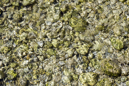 harmonic: detail of river in the alps gives a harmonic background