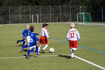 sg: SCHWALBACH, GERMANY - SEP 29, 2007: Football Tournament, BSC Schwalbach CUP, game Children E-Class Tournament - BSC Schwalbach - SG Floersheim in Schwalbach, Germany