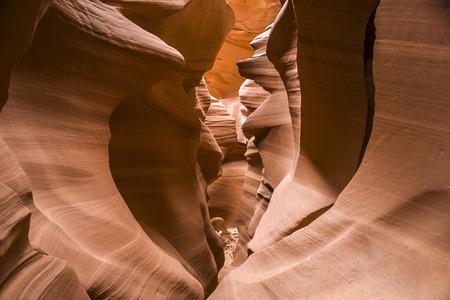 slot canyon: scenic Antelope Slot Canyon in Page Arizona Stock Photo