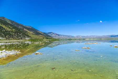 lee vining: beautiful Mono Lake in California near Lee Vining in little planet perspective