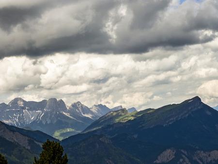 aiguille: scenic Mont Aiguille in Vercors, France