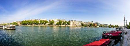 la tour eiffel: skyline of Paris from la tour Eiffel under blue sky Editorial