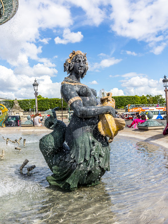 hectares: Fountain (designed by Jacques-Ignace Hittorff) on Place Concorde. Place de la Concorde is one of major public squares in Paris, France. Measuring 8.64 hectares, it is largest square in French capital.