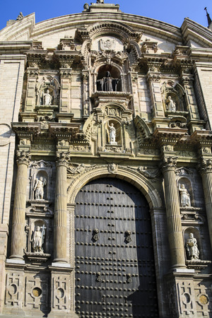 plaza de armas: The Cathedral at Plaza de Armas, Lima, Peru
