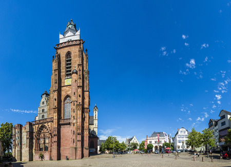 market place: famous Wetzlar dome at the central market place Editorial