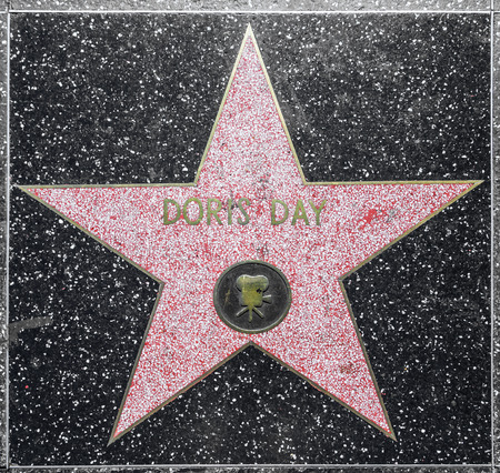 county side: HOLLYWOOD - JUNE 26: Doris Days star on Hollywood Walk of Fame on June 26, 2012 in Hollywood, California. This star is located on Hollywood Blvd. and is one of 2400 celebrity stars.
