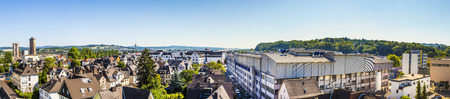 rural skyline: WETZLAR, GERMANY - JULY 1, 2015: view to city of Wetzlar, Germany. The city of Wetzlar is a former Free imperial city and hold the seat of the Imperial Supreme Court of the Holy Roman Empire. Editorial
