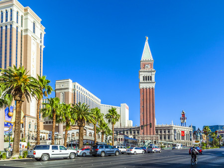 flutter: LAS VEGAS - JUNE 15, 2012: The Venetian Resort Hotel & Casino. The resort opened on May 3, 1999 with flutter of white doves, sounding trumpets, singing gondoliers and actress Sophia Loren.