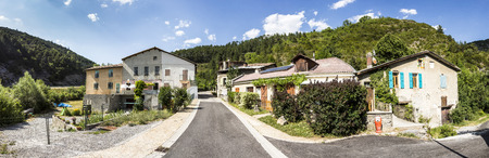 azur: small village of Beaujeu in the Provence Alpes Code d Azur in France Stock Photo
