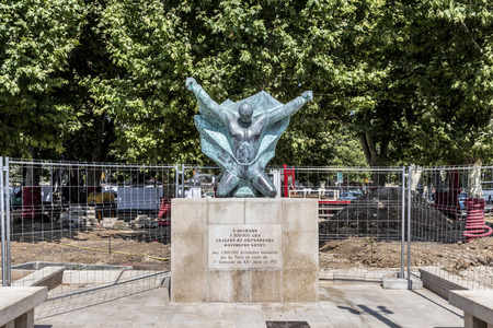 genocide: AIX EN PROVENCE, FRANCE, JULY 8, 2015: monument for the genocide of the armenians in Aix en Provence, France. The monument was sponsored by the local french armenian community. Editorial