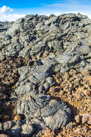 treck: Stones of volcanic flow give a beautiful natural structure