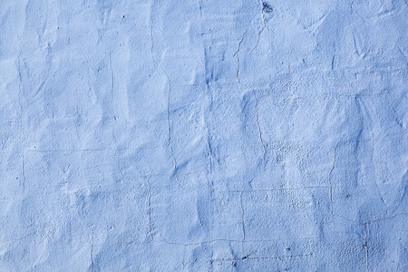 blue painted old concrete wall in harmonic color