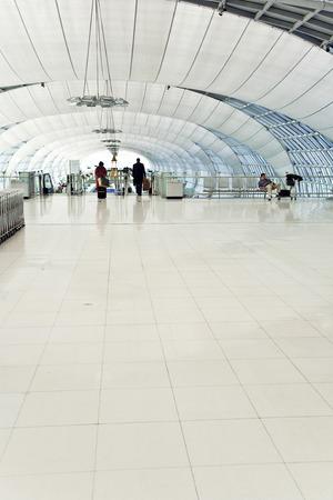 annually: BANGKOK - JAN 5, 2010: departure terminal of Bangkok Suvarnabhumi International Airport  in Bangkok, Thailand. The airport is handling about 45 million passengers annually. Editorial