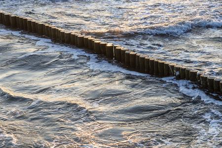 breakers: wave breakers at the ocean of the baltic sea