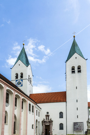 freising: spires freising cathedral, Bavaria, Germany Stock Photo