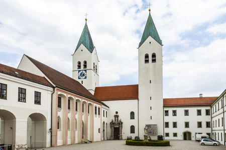 freising: spires freising cathedral, Bavaria, Germany Editorial