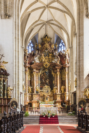 17th of march: KREMS, AUSTRIA - APR 23, 2015: interior of Piarist  Church on March 21, 2015 in Krems, Austria. The Church was built in the early 17th Century. Editorial