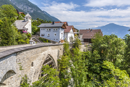 tyrol: old roman bridge in Grins,, Tyrol, Austria