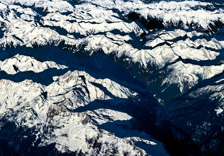 scenic snow covered mountains at the Alps