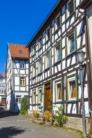 codex: LICH, GERMANY - AUG 30, 2015: view of famous old town of Lich, germany.The first known mentioning of Lich dates back to 790 in the Lorsch codex.