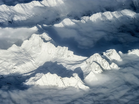 snow covered mountains: scenic snow covered mountains at the Alps