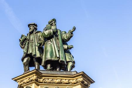 gutenberg: The Johannes Gutenberg monument on the southern Rossmarkt Editorial