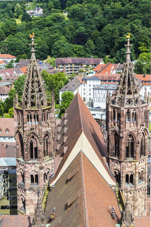 freiburg: The famous Minster of Freiburg in Germany