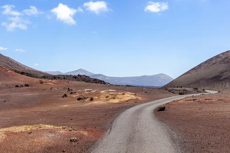 timanfaya: Timanfaya Volcanoe National Park in Lanzarote, Canary Islands, Spain Foto de archivo