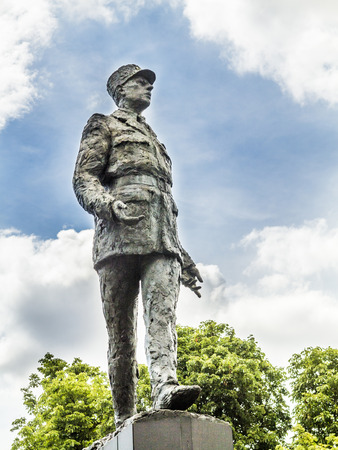 gaulle: PARIS, FRANCE - JUL 12, 2015: memorial of Charles de Gaulle  in Paris. He was a French general and the first president from 1959 to 1969