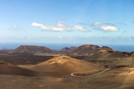lanzarote: Timanfaya Volcanoe National Park in Lanzarote, Canary Islands, Spain Stock Photo