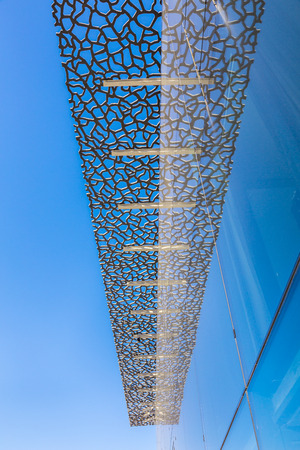 european culture: MARSEILLE, FRANCE - MAY 11, 2015 : The modern building of Museum of European and Mediterranean Civilizations (MuCEM). It was was inaugurated on 2013 when the city was the European Capital of Culture Editorial