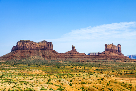 monument valley: scenic view of monument valley in late afternoon
