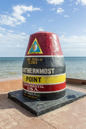 southernmost: Southernmost Point marker, Key West, Florida, USA