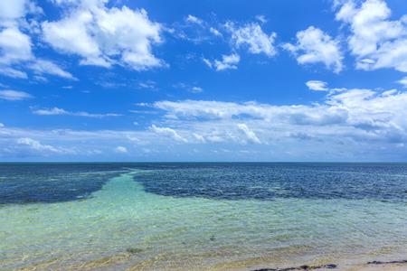 key west: beautiful empty beach in the Keys near Key West, Florida