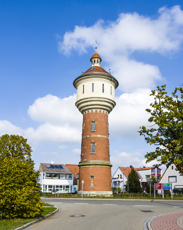wody wieży: old water tower in Schillingsfuerst, Bavaria, Germany Zdjęcie Seryjne