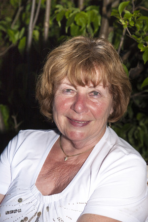 trustful: portrait of attractive caucasian smiling senior woman