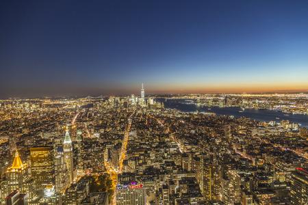 skyline of  New York, Manhattan by night Фото со стока