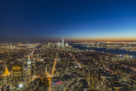specular: specular skyline view of New York by night