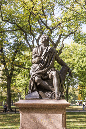 bard: Statue of PoetLyricist Robert Burns, Central Park, New York City