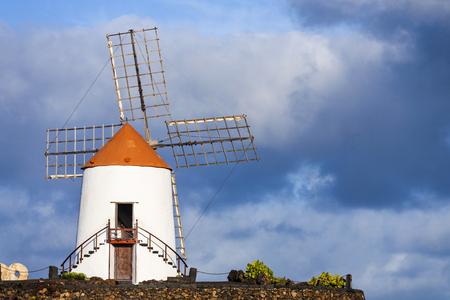 lanzarote: beautiful windmill in lanzarote