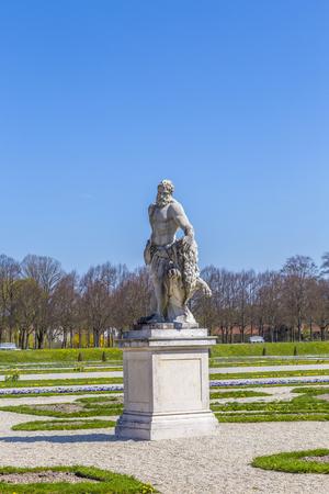 artful: MUNICH, GERMANY - APR 20, 2015: statues at the castle of Oberschleissheim, Munich.