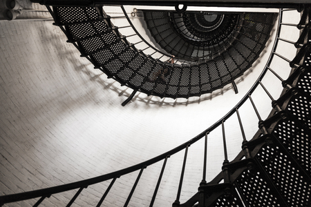 augustine: SANKT AUGUSTINE, USA - JULY 24, 2014: .beautiful iron stairs inside the lighthouse from Saint Augustine in Florida. The lighthouse was erected in 1871. Editorial