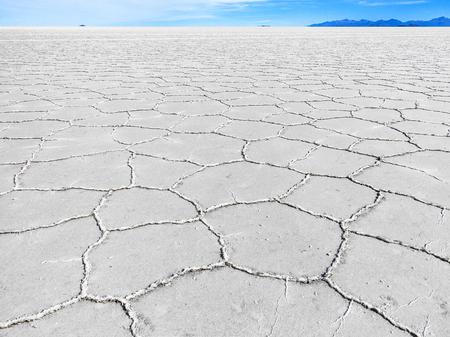 fata morgana: Worlds biggest salt plain Salar de Uyuni in Bolivia