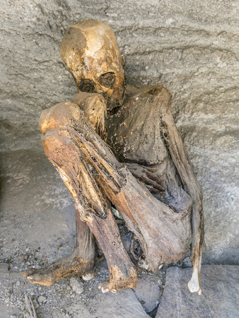 superstitions: old antique mummies in Alcaya, Bolivia