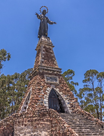 corazon: crucifixtion monument of Jesus in Sucre Stock Photo