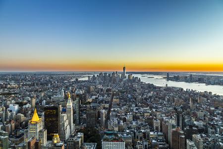 specular: specular skyline view of New York by night