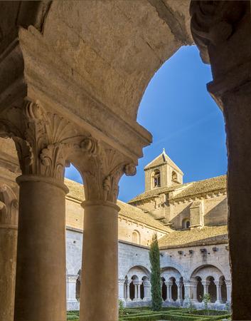 gordes: Cloister of Senanque Abbey, Vaucluse, Gordes, Provence, France