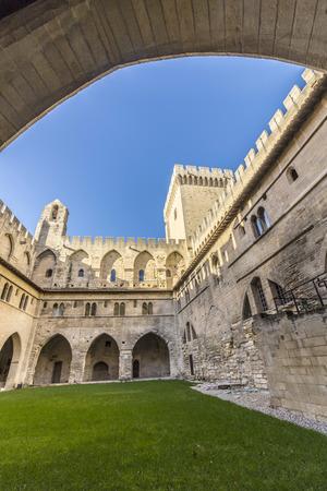 palais: Architecture inside Palais des Papes at Avignon - France