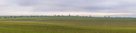 wide  wet: rural area with fields near Bad Frankenhausen, Germany