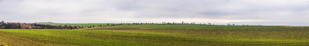 rural skyline: rural area with fields near Bad Frankenhausen, Germany